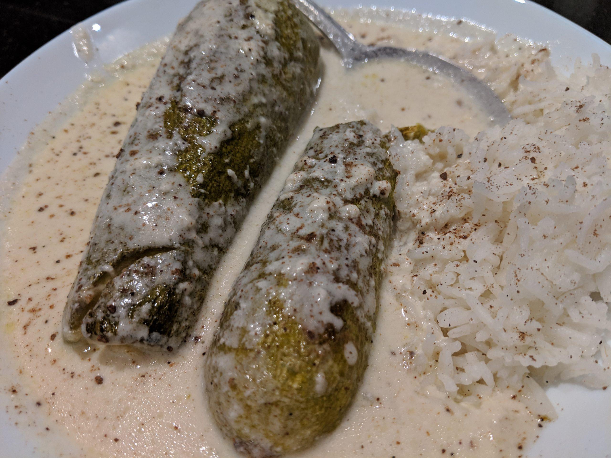 «Шейкх аль-махаши» или фаршированные кабачки в кефире с рисом